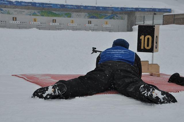střelba na sněhu