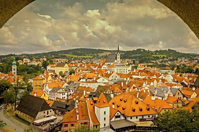 Český Krumlov pohled na město