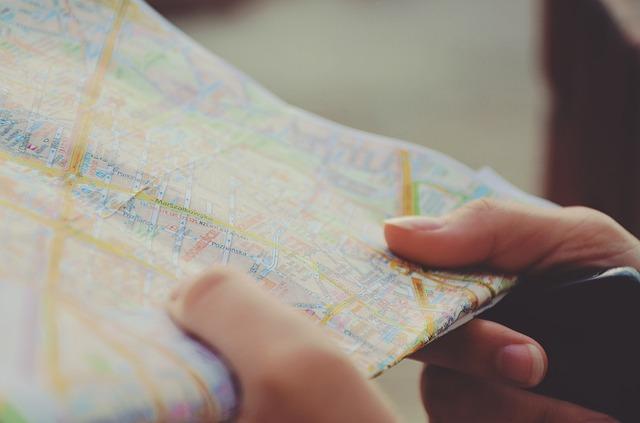 papírová mapa