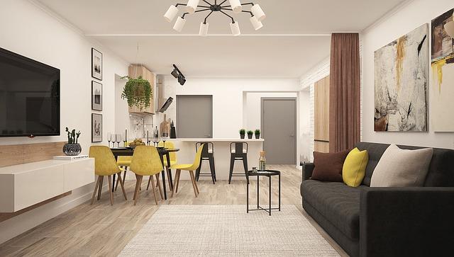 kuchyňka za obývákem
