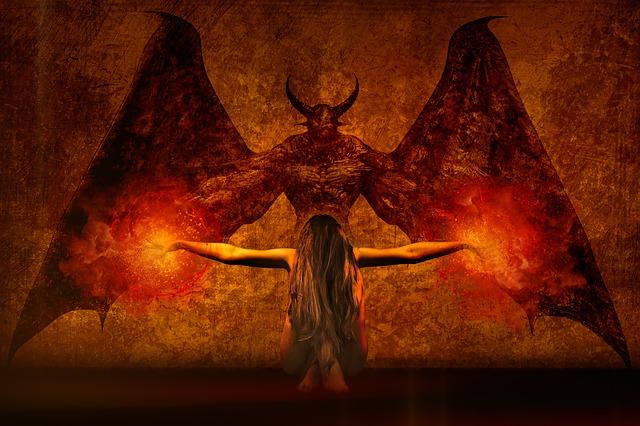 démon u čarodějnice