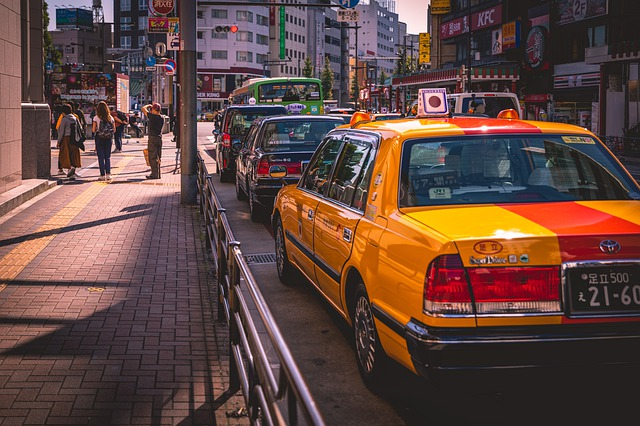 taxi v zácpě
